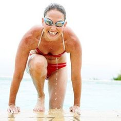 Want to lose weight without breaking a sweat? Hop in the pool! This fun water workout burns mega calories and tones every trouble spot.