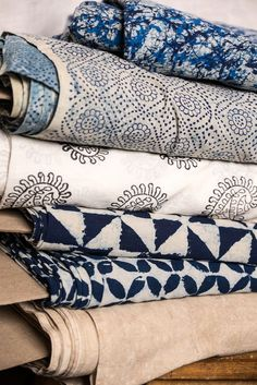 Indigo cottons. Merchant & Mills/England