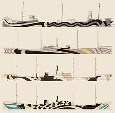British ships camouflage design for WWI & II