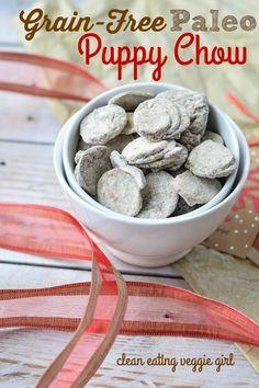 Grain-Free Paleo Puppy Chow {Muddy Buddies}| cleaneatingveggiegirl.com