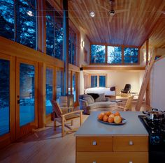 Mazama Cabin - contemporary - living room - seattle - by Lawrence Architecture