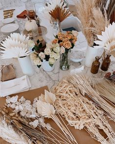 Picnic Decorations, Wedding Table Decorations, Flower Decorations, Elegant Wedding, Floral Wedding, Wedding Flowers, Dream Wedding, Dried Flower Arrangements, Dried Flowers