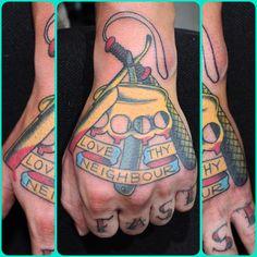 Sailor Jerry hand tattoo