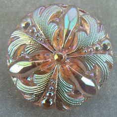 Czech vintage glass button