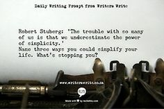WritingPrompt – Simplicity