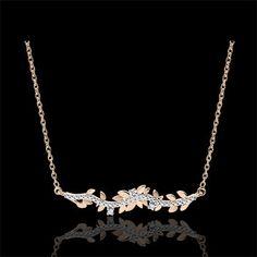Collar Jardín Encantado - Follaje Real - oro rosa 18 quilates y diamantes : joyas Edenly My Unique Style, Crazy Outfits, Looks Cool, Parfait, Jewerly, Piercings, Casablanca, Diamond, Stranger Things