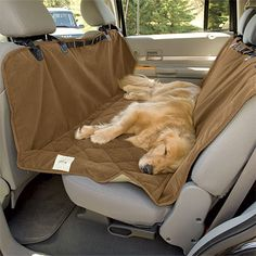 Deluxe Microfiber Car Hammock... Forget the dog, I'd sleep there.