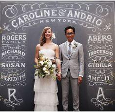 Quadro de casamento Wedding chalkboard