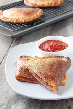 Salami and Mozzarella Calzones - an easy dinner idea sure to become a family favorite! Recipe at LoveGrowsWild.com ☀CQ #appetizers #tailgate #football #recipes