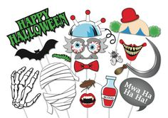Halloween Photo booth Props Set 37 Piece por TheQuirkyQuail
