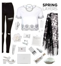 """Spring layers "" by genesis129 ❤ liked on Polyvore featuring Pussycat, Topshop, Byredo, Make, Lazy Susan and Jennifer Meyer Jewelry"