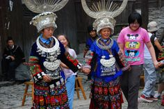 All sizes | Miao women inviting guests to dance | Flickr - Photo Sharing!