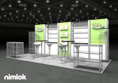 Nimlok specializes in trade show exhibits and food industry displays. For Fritos Totis, we constructed a custom 10x20' booth solution to display and showcase their products.
