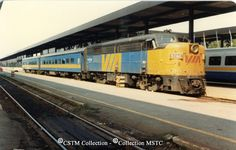 Location:  Ottawa New, ON Subject:  Diesel locomotive Railway Name:  VIA RAIL CANADA INC. Date:  1981-08-00 Caption: Montreal-Ottawa local train in Ottawa before its departure for the port city. Equipment Number: 6760