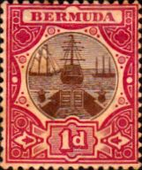 Bermuda 1902 Dry Dock SG 32 Fine Mint SG 32 Scott 29 Other Commonwealth stamps here