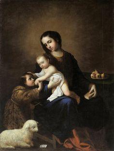 Zurbaran. Vierge à l'enfant avec Saint Jean Baptiste