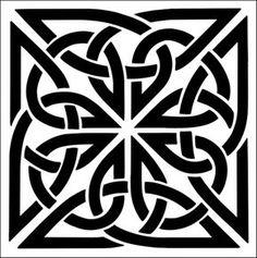Tile No 1 stencil from The Stencil Library CELTIC range. Buy stencils online. Stencil code CE24.