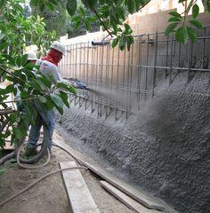 Concrete Retaining Wall- Sprayed Concrete