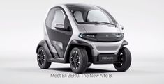 Eli Zero is the electric Smart Fortwo-Renault Twizy mashup you've been craving Lamborghini, Ferrari, Futuristic Motorcycle, Futuristic Cars, Peugeot, Jaguar, Best Hybrid Cars, Benz, Microcar