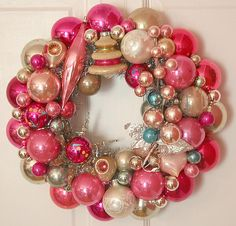 Pink ChristmasI found a collection of great articles about Christmas decorating with a pink theme. Be sure to also check out the Pink Christmas Decorations Picture Gallery. The articles below are full of inspiring pink Christmas themes. Christmas Quiz, Noel Christmas, Retro Christmas, Winter Christmas, Xmas, Christmas Christmas, Christmas Design, Christmas Ornament Wreath, Vintage Christmas Ornaments