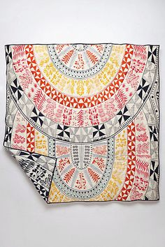 Mara Hoffman Coverlet - anthropologie.com. Loooove rolled at foot of our bed