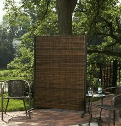Versare Outdoor Wicker Resin Room Divider White In 2019 Products Patio