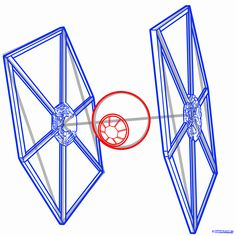 how to draw a tie fighter, tie fighter, star wars step 7