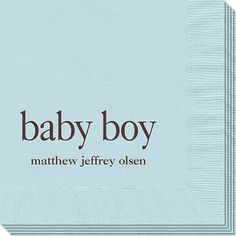 Personalized Baby Boy Napkins
