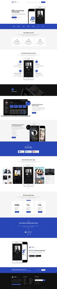 XGen - Multipurpose Landing Page PSD Template #psd #web app #software • Download ➝ https://themeforest.net/item/xgen-multipurpose-landing-page-psd-template/18736616?ref=pxcr