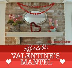 Nice 99 Totally Cool Valentine Mantel Decoration Ideas. More at http://www.99homy.com/2018/01/27/99-totally-cool-valentine-mantel-decoration-ideas/