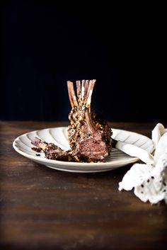 Raspberry Balsamic and Pecan Encrusted Rack of Lamb - Adventures in Cooking