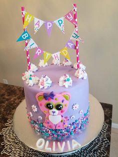 Happy Birthday Parties, 10th Birthday, Birthday Party Decorations, Girl Birthday, Birthday Ideas, Barbie Birthday Cake, Cupcake Birthday Cake, Cupcake Cakes, Beanie Boo Party
