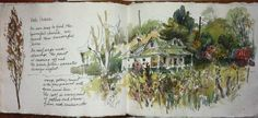 My mom's watercolor journal ~ North Carolina