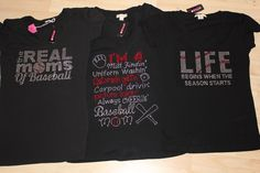 Baseball bling shirts all $25 each