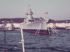 Battleship Richelieu in Brest, 1968