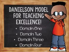 Blog post about the Danielson Model for Teacher Evaluations- Lists ideas for what to include as evidence for the 4 domains of teaching by Inspire Me ASAP