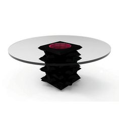 Chloé geometric dining table