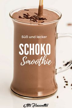Schoko smoothie für Kinder You are in the right place about baking ingredients drawing Here we offer you the most beautiful pictures about the baking ingredients you are looking for. Banana Smoothie Bowl, Smoothie Bowl Vegan, Smoothie Detox, Lunch Smoothie, Smoothies For Kids, Healthy Smoothies, Smoothie Recipes, Winter Smoothies, Healthy Drinks