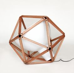 HENRY PILCHER, BLOCK 2: industrial lamp in an icosahedron!