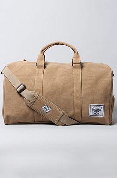 HERSCHEL SUPPLY The Novel Canvas Duffle Bag in Khaki. $100.00 at Karmaloop.com