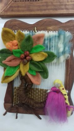 Loom Weaving, Hand Weaving, Tapestry Loom, Origami, Waldorf Crafts, Crochet Cable, Felt Fairy, Latifa, Woven Wall Hanging
