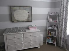 Solid gray walls. White trim. Dark or white furniture? Accents in different patterns- vertical stripes, horizontal stripes, chevron, polka dots, etc. Pops of aqua, pink, & yellow.