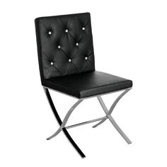 Esszimmerstuhl aus Echtleder All Home Beschichtung: Schwarz - Frances Bradley Ikea Dining Chair, Cheap Dining Room Chairs, Leather Dining Room Chairs, Upholstered Dining Chairs, Contemporary Dining Chairs, Modern Chairs, Second Hand Chairs, Comfortable Living Room Chairs, Polywood Adirondack Chairs