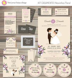 Kit digital para decorar a festa de casamentos dos seus sonhos! Acompanha convites, save the date, tags de lembrancinhas e muito mais.