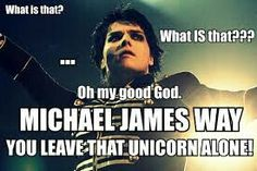 MICHAEL JAMES WAY! LEAVE THAT UNICORN ALONE! XD