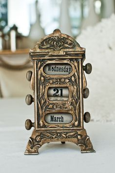 ✕ Art Nouveau Bronze Perpetual Calendar from Paris Hotel Boutique—purchase before it's gone! / #home #accessories #office