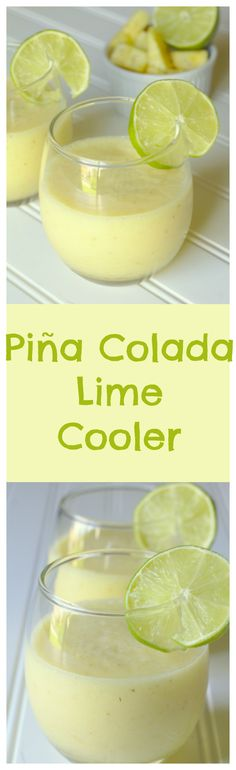 Piña Colada Lime Cooler – A delicious and refreshing summer drink filled with fresh pineapple, lime juice, coconut, and ice!
