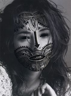'Nina Chakrabati'  The photographer Nina took a range of portrait photographers and then edited them by adding patterns onto the face and adding different materials to create the pattern. This is not my type of photographer but there is something i like about it.