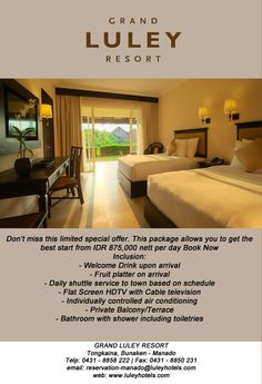 weekends is near and we offer you the best special offer from Grand Luley Resort.