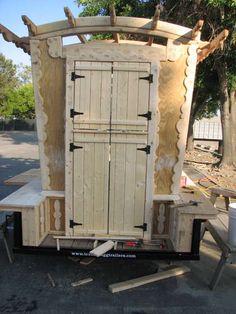 Vardo caravan building in process